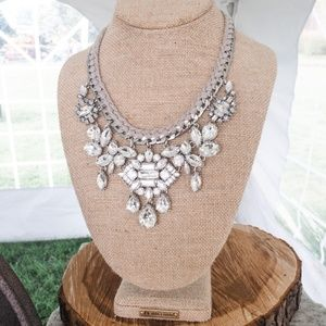 Deco drama crystal statement necklace